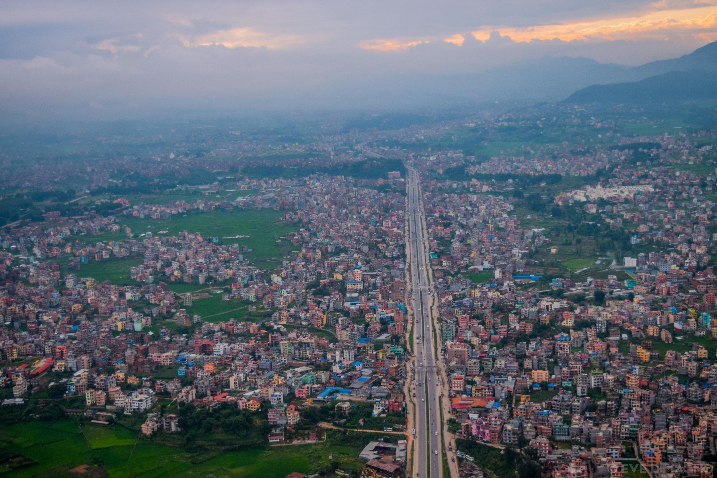 Kathmandu from the air