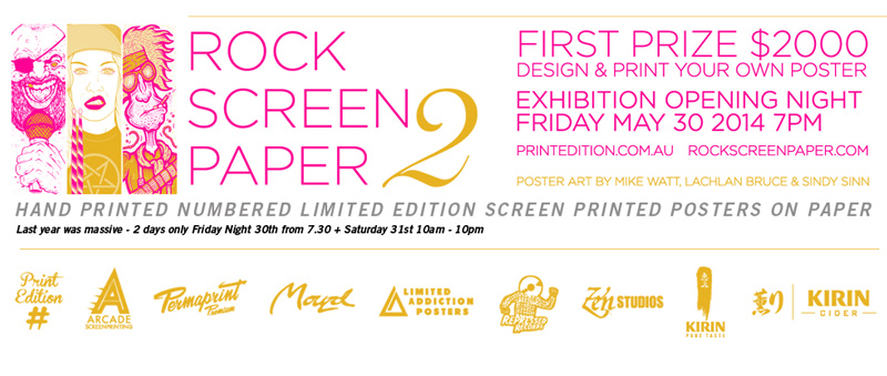 sam-shennan-ud3-rock-poster-screenprinting-exhibition-sydney-poster-designer