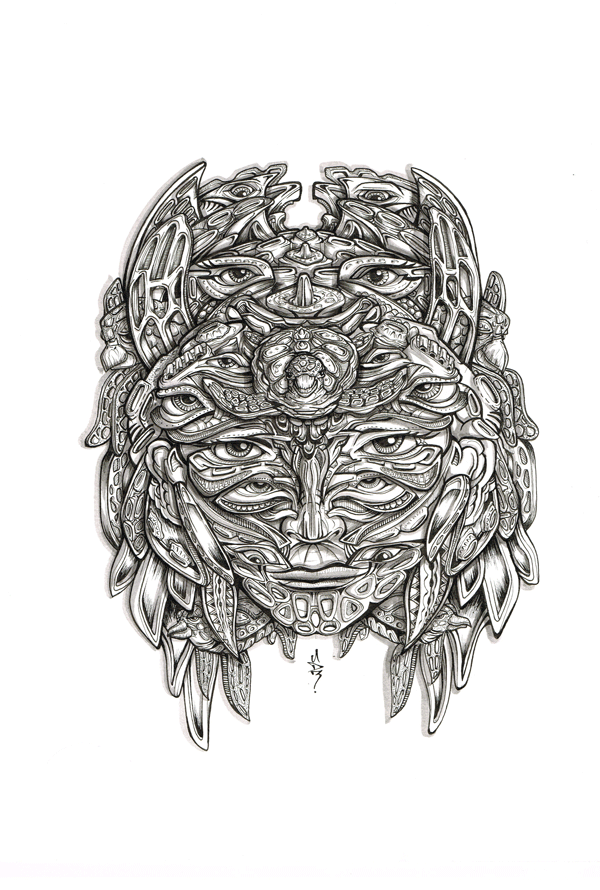 visionary-mask-psychedelic-trippy-spiritual-shaman-illustration-drawing-eyes-turtle-animal-animorph