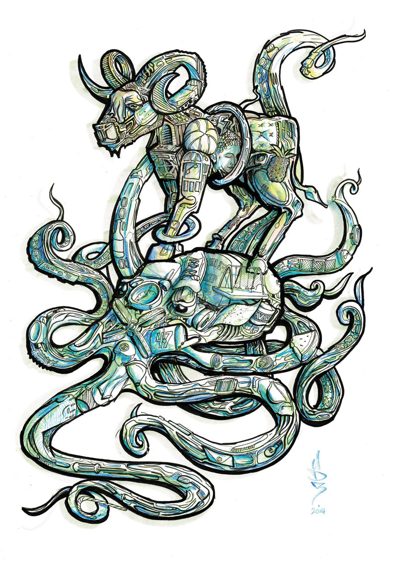 octopus-goat-treasure-island-sam-shennan-ud3-artist-sydney-illustrator-illustration-design-hunt-3.jpg