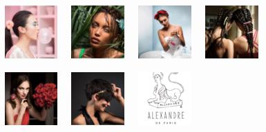 Casting, photo shooting and blogging of the Alexandre de Paris new blog.