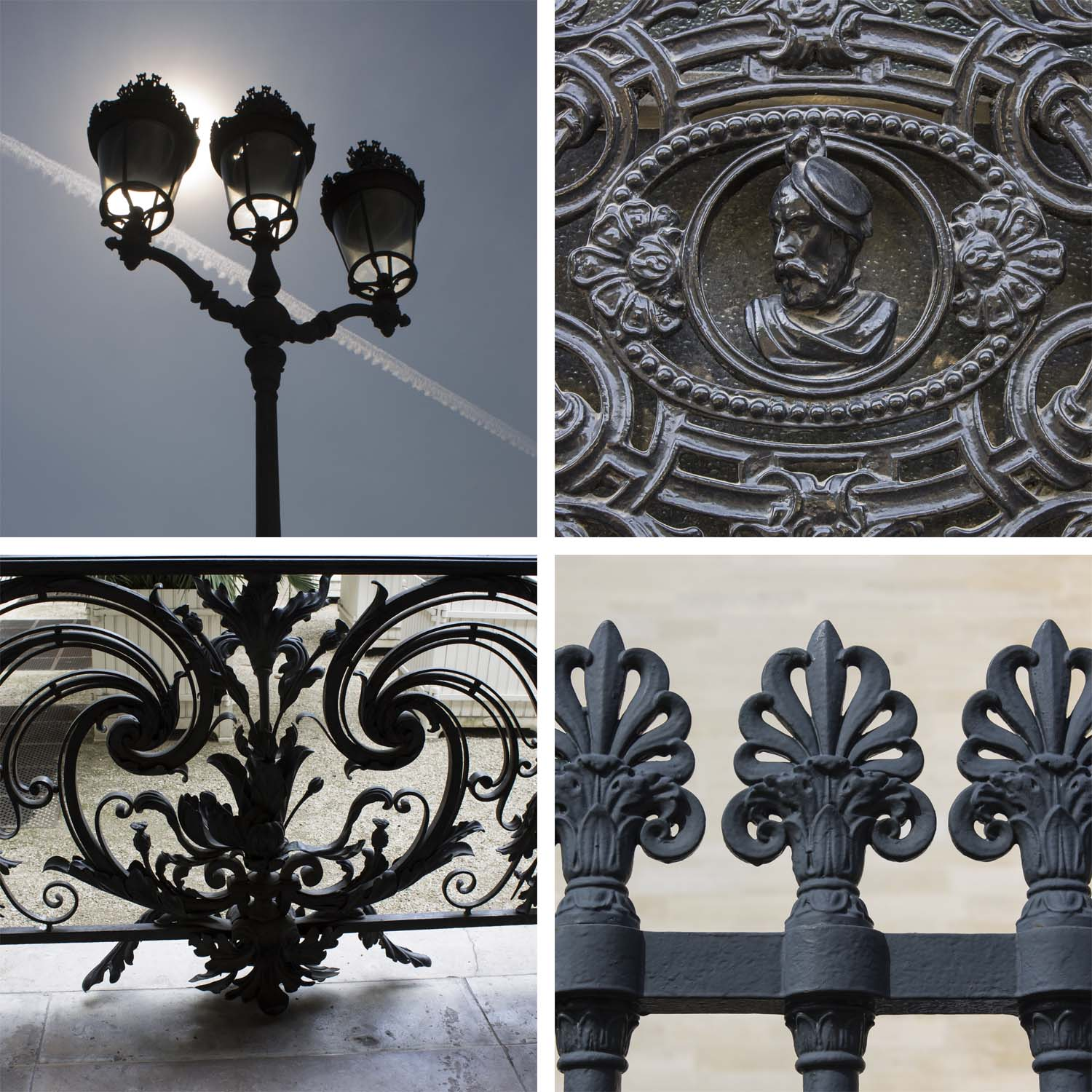 A little sample of Paris' beautiful ironwork design details.