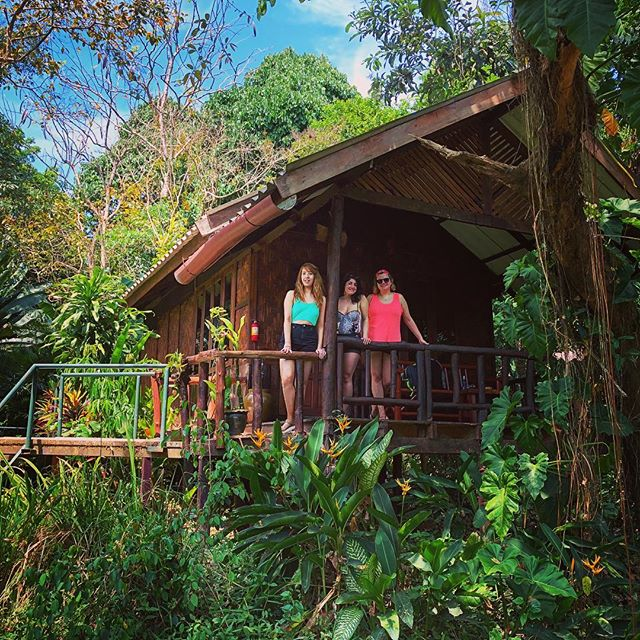 The Jungle Janes outside our wooden retreat #welcometothejungle #thailand #riverside #khaosok #holidays #inthemiddleofnowhere #travel #holidays #holiday