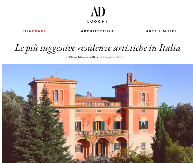 Architectural Digest Italia features The Lemon Tree House as one of  the most recommended residency programs in Italy.