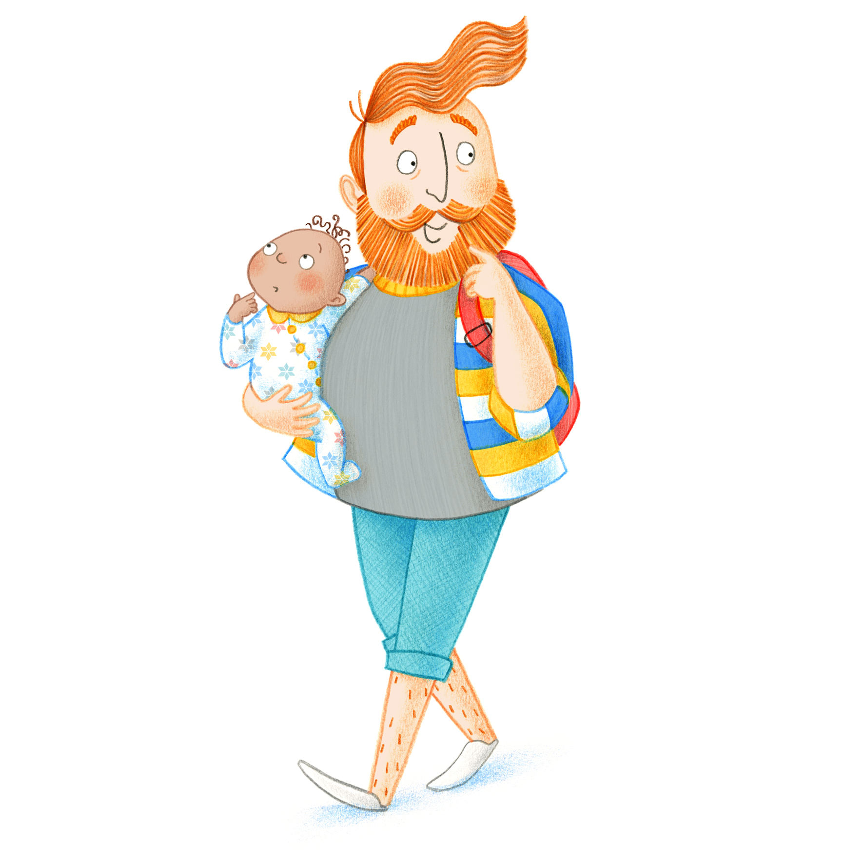 12_Westminster_Abbey_Illustration_Family_Trail_Education_Ailsa_Burrows_Dad and Baby_02.jpg