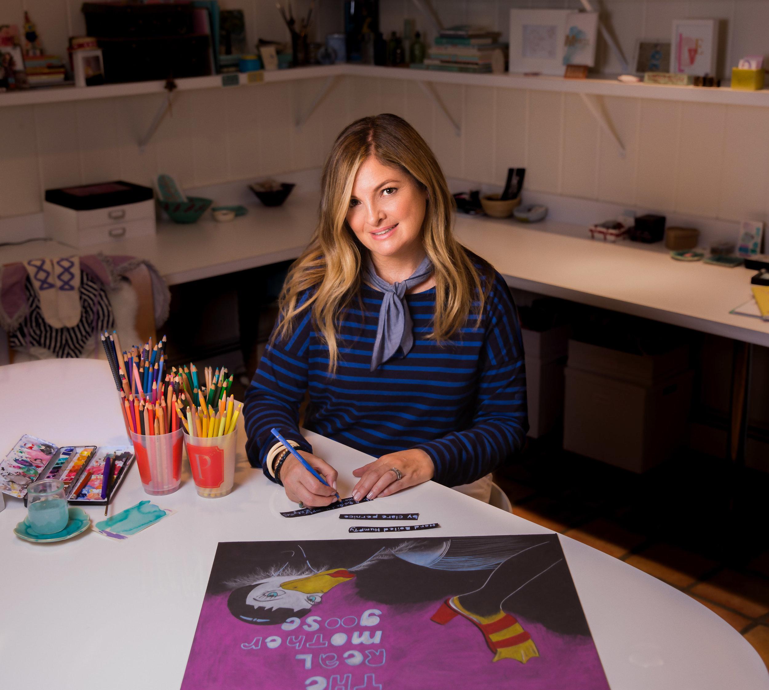 Ms. Pernice in her studio