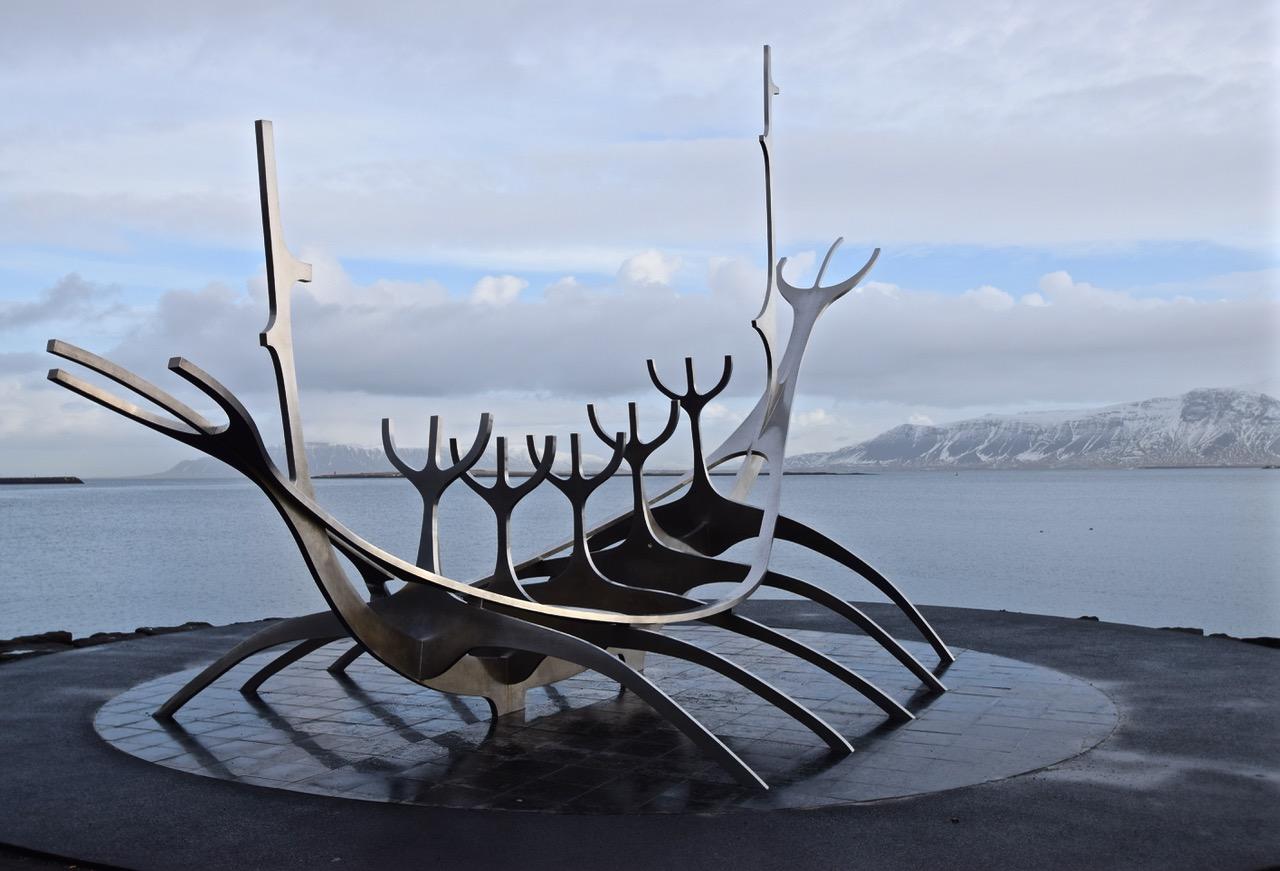 'Sólfar'Sun Voyager sculpture - Reykjavik harbor