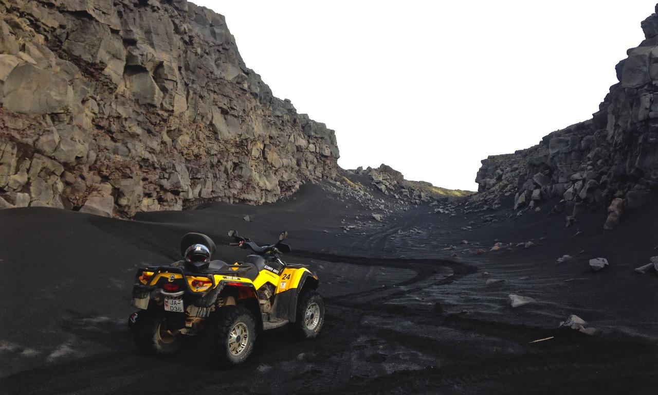 Ride between the Mid-Atlantic Ridge on your own ATV