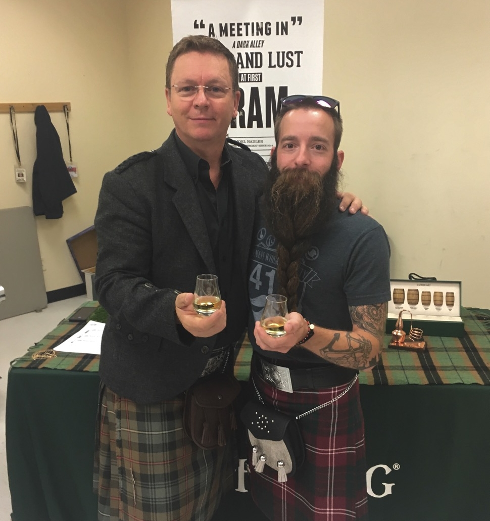 Having a dram with Master Ambassador, Simon Brooking while in Lincoln, NH for the New Hampshire Highland Games