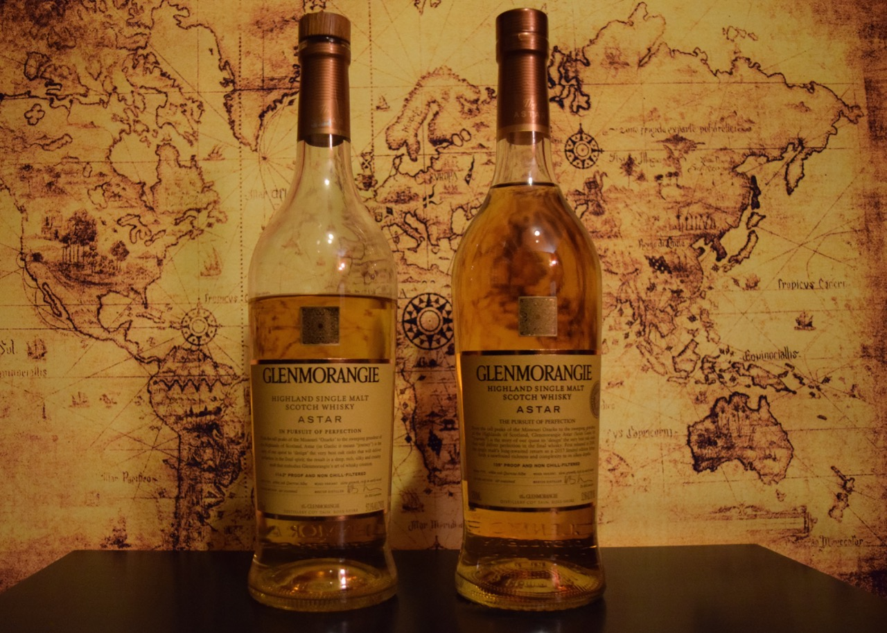 Comparison of the Glenmorangie Astar, original and 2017 re-release bottling