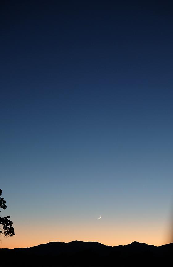New moon...headed towards Big Sur