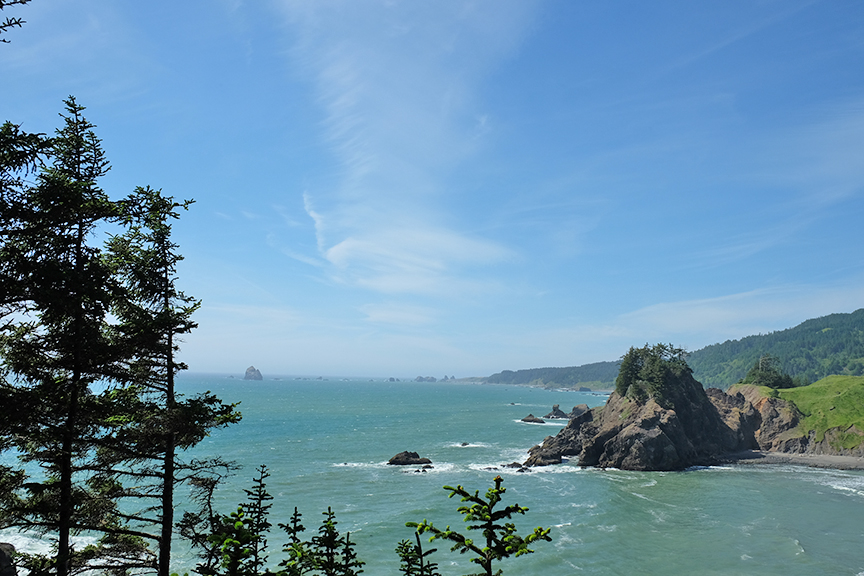 Looking north from Arch Rock
