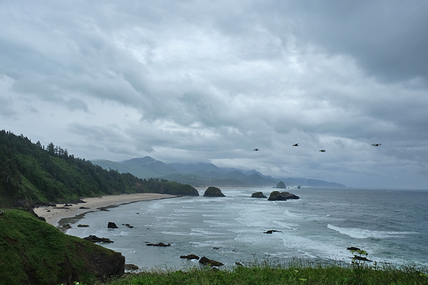 View from Ecola looking South at Cannon Beach