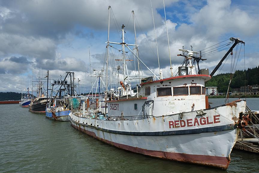 fishing boats in Astoria