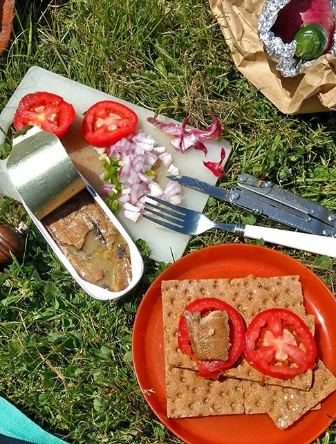 picnic at Harris Beach