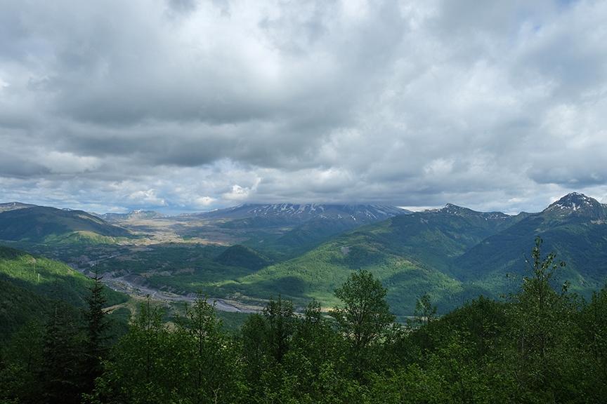 Mt. Saint Helens (behind the clouds)