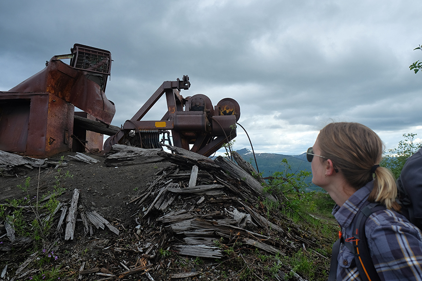 Logging machinery from 1980