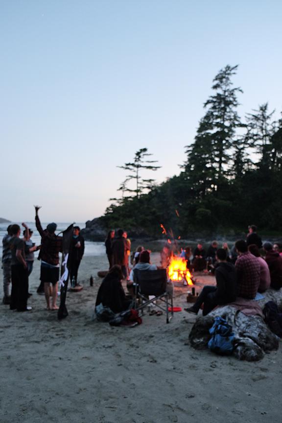 summer soltice bonfire at MacKenzie beach