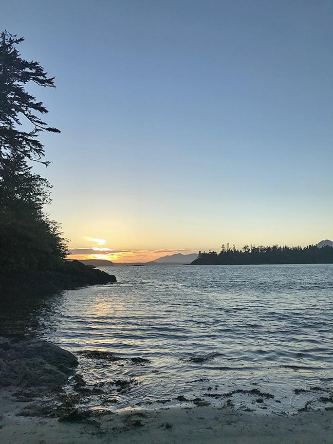 catching the midsummer sunset