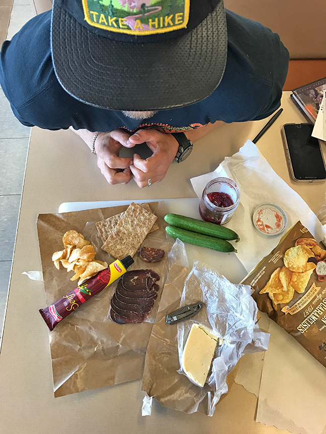 snacks on the ferry