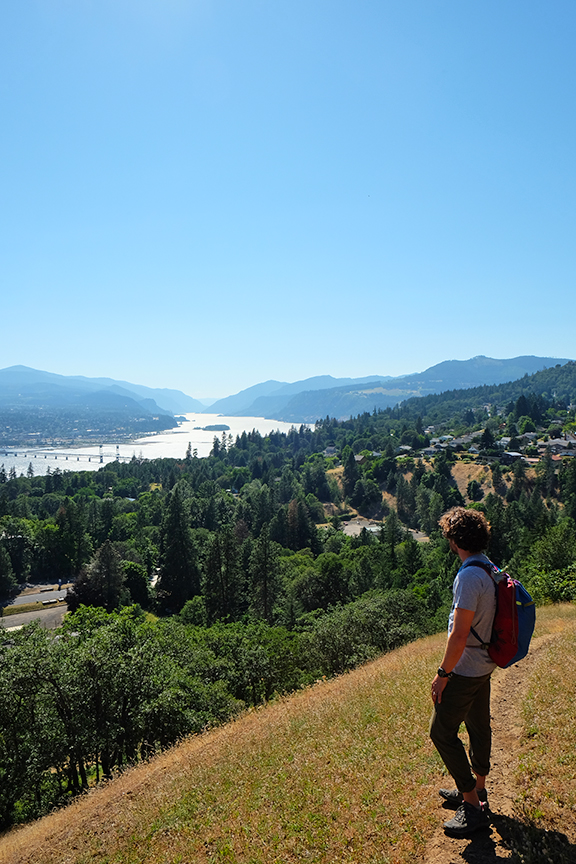 checking out the views of Hood River from White Salmon