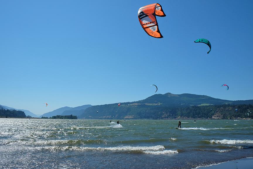 Kaspar catching a breeze