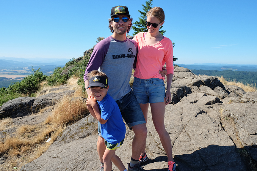 on top of Spencer's Butte with a new generation of old friends
