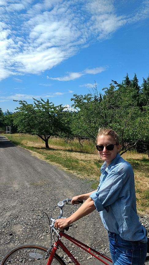 Biking into White Salmon, WA