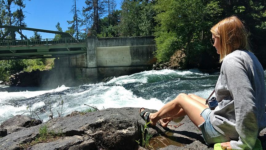 the wild White Salmon River