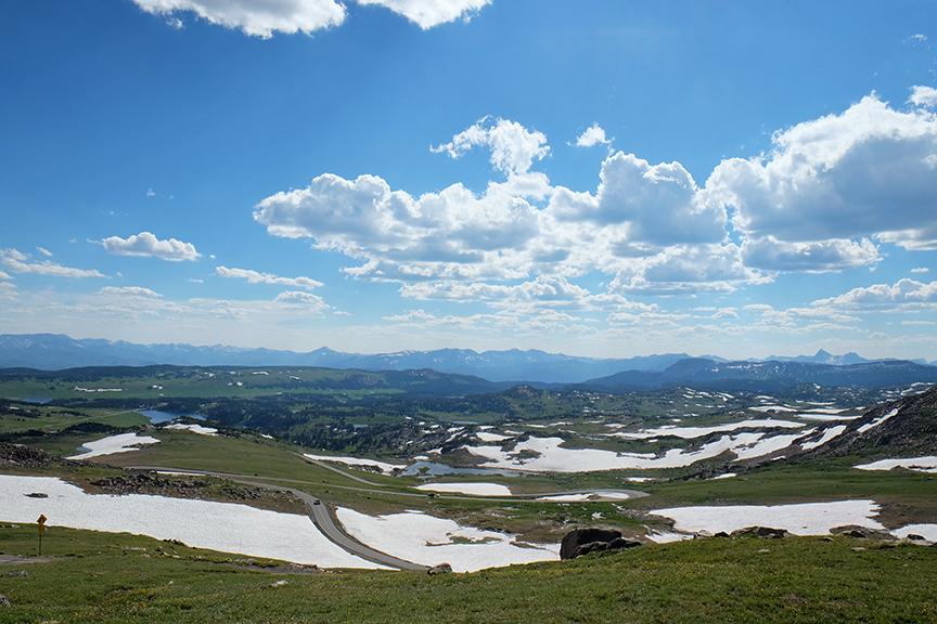 high elevation snow fields