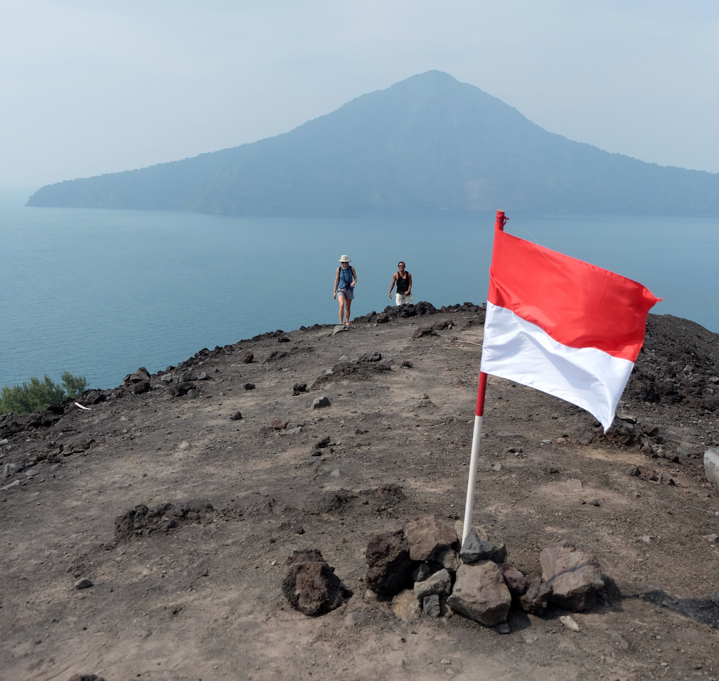 Indonesia's independence day was the day before we arrived, so their flags were flying to celebrate 72 years of independence.