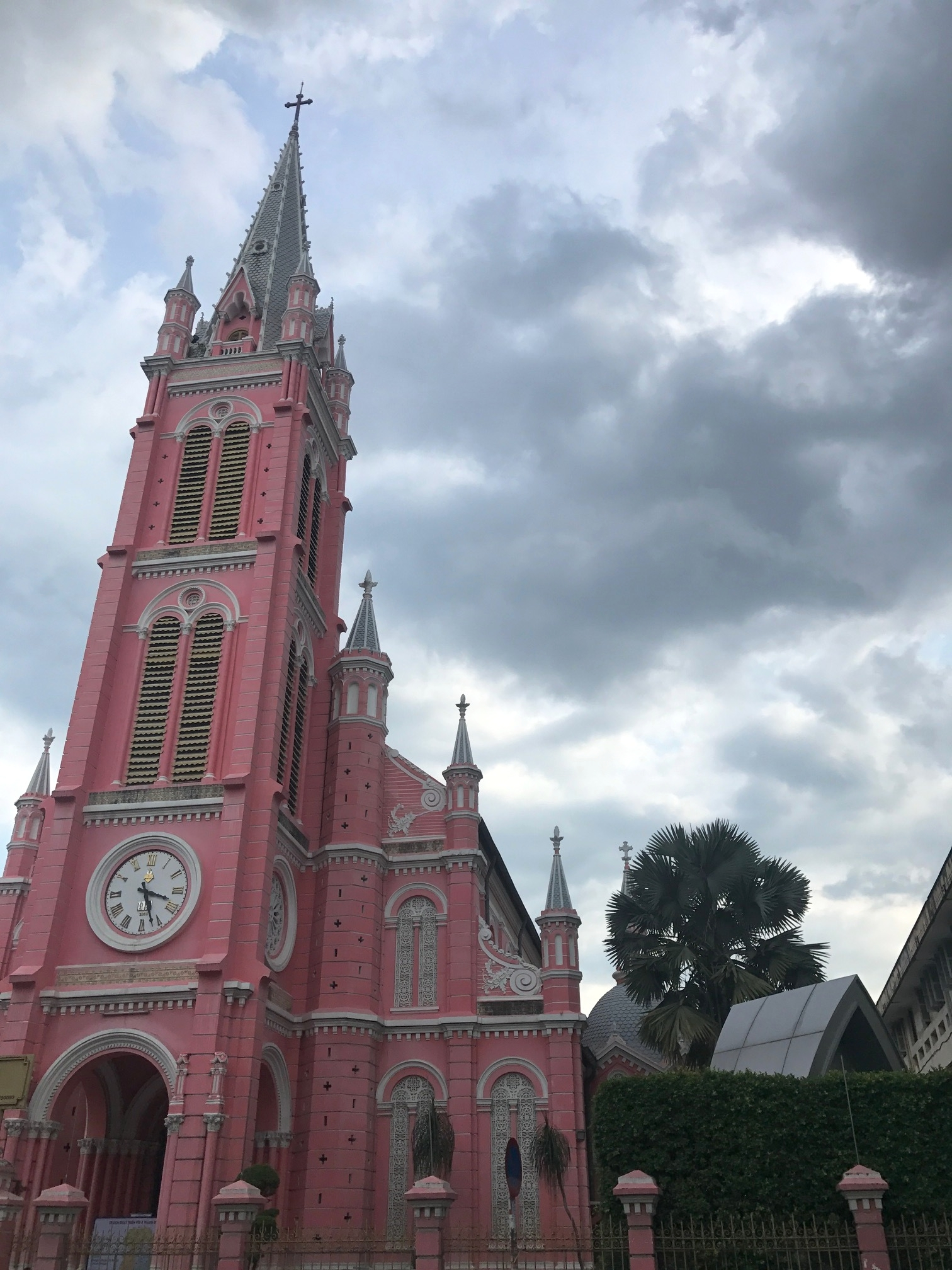 The Tan Dinh Church was founded in 1974 by Father Donatien Éveillard (1835-1883)