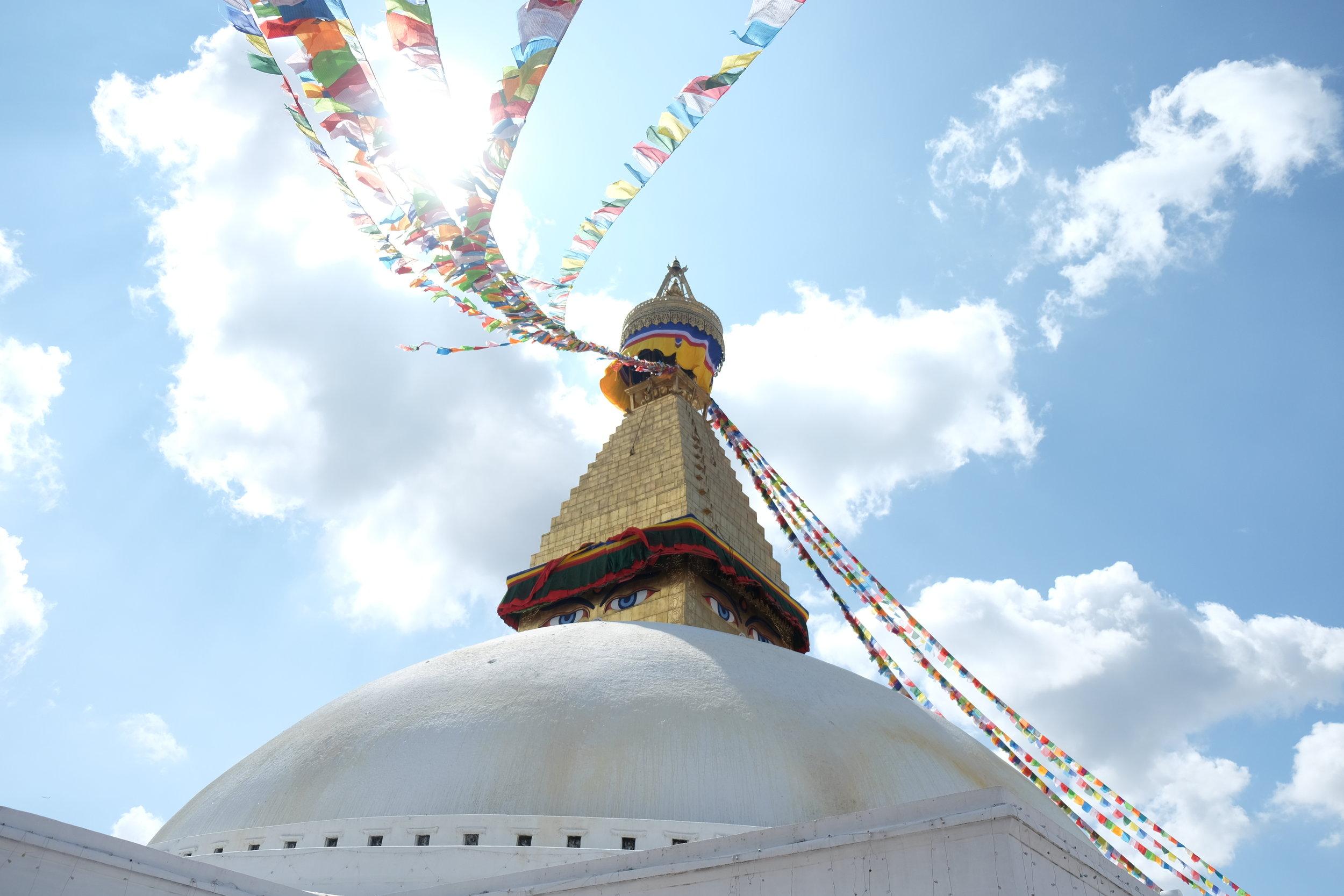 Renovated Boudhanath Stupa