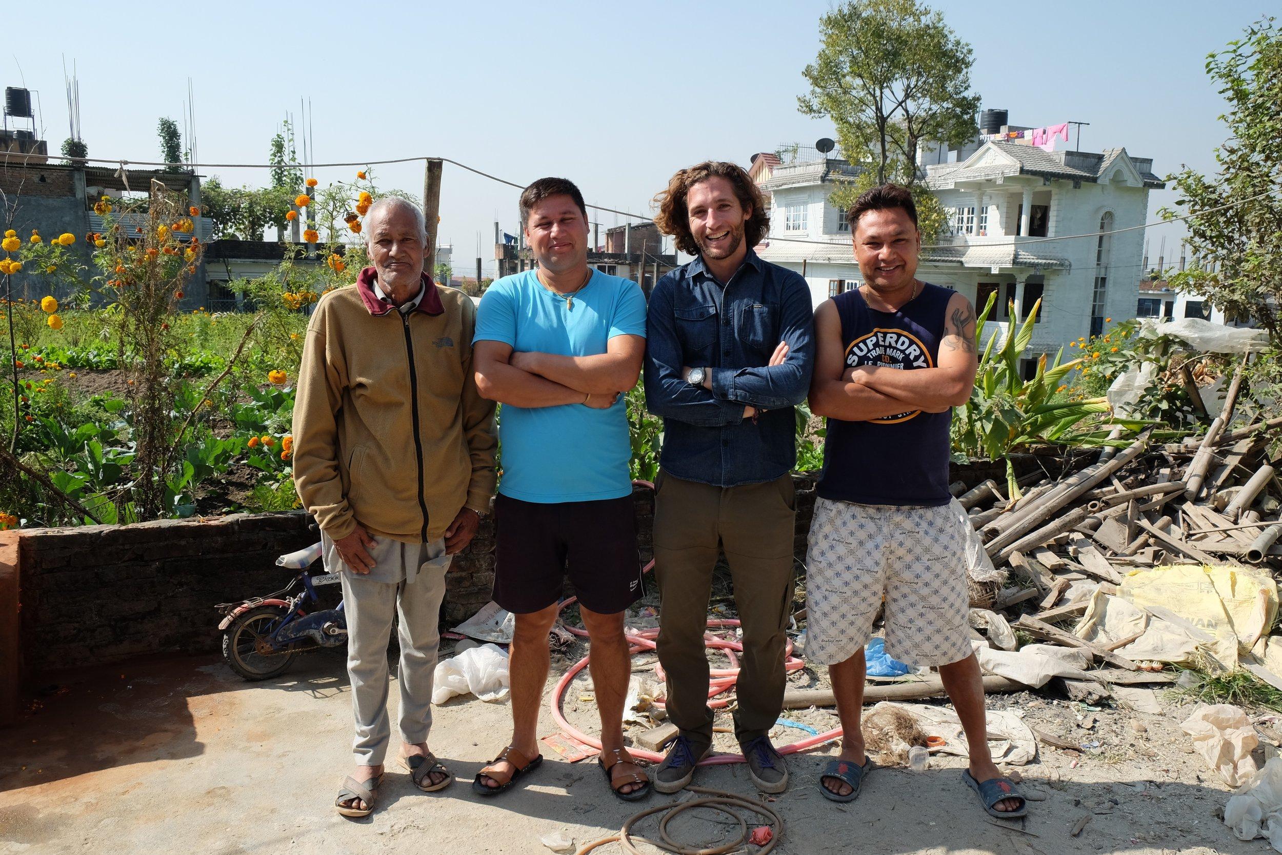 Baa, Abhishek, Kaspar and Raghunath