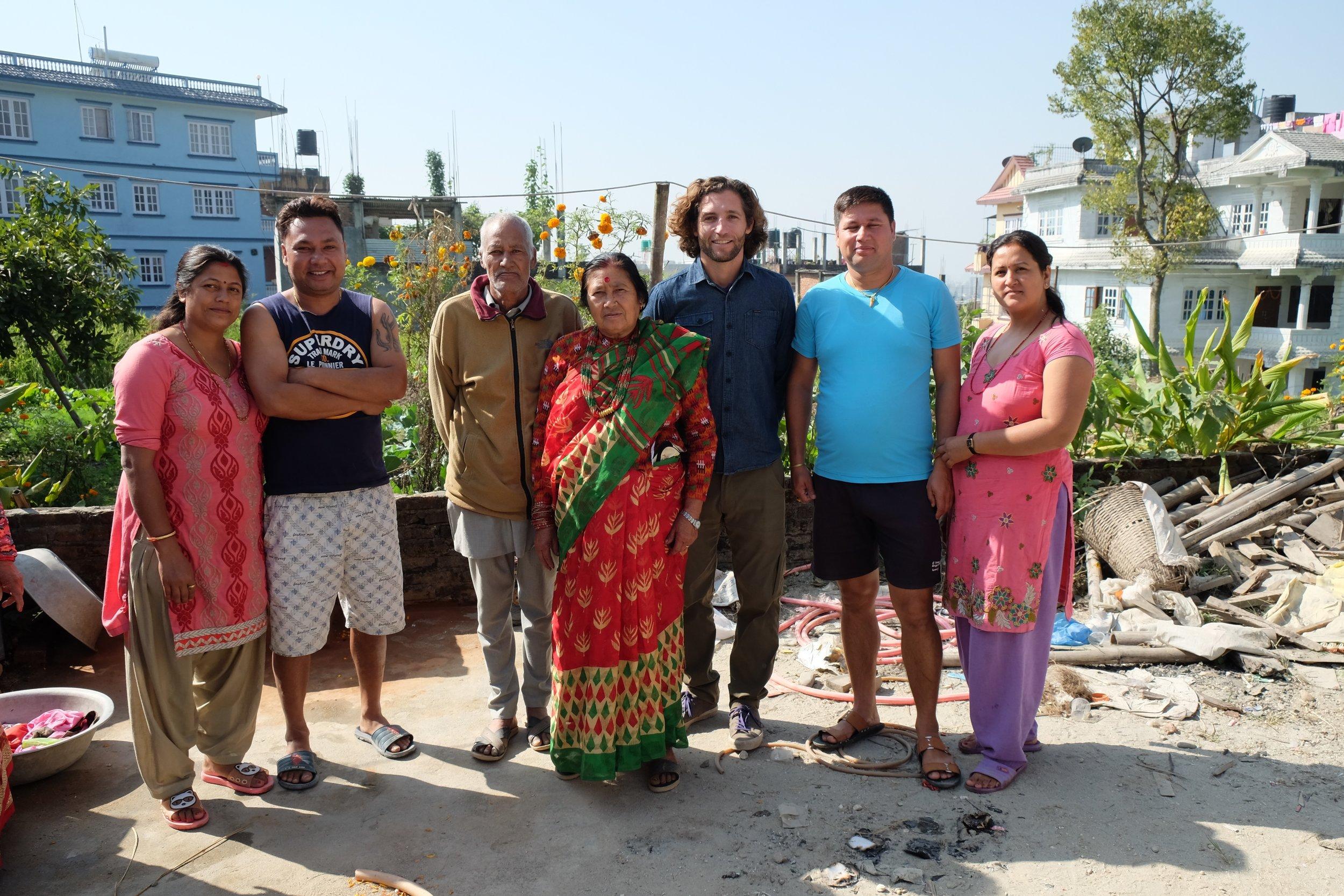 Usha, Raghu, Baa, Ama, Kaspar, Abhishek, Nirmala