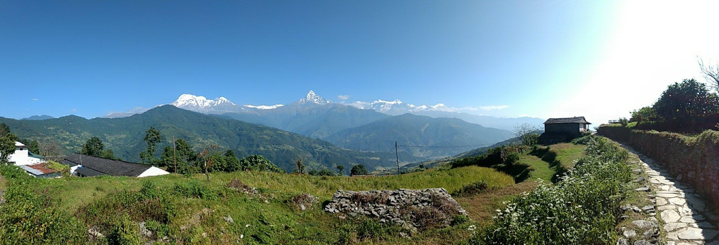 Panorama looking East towards Manaslu