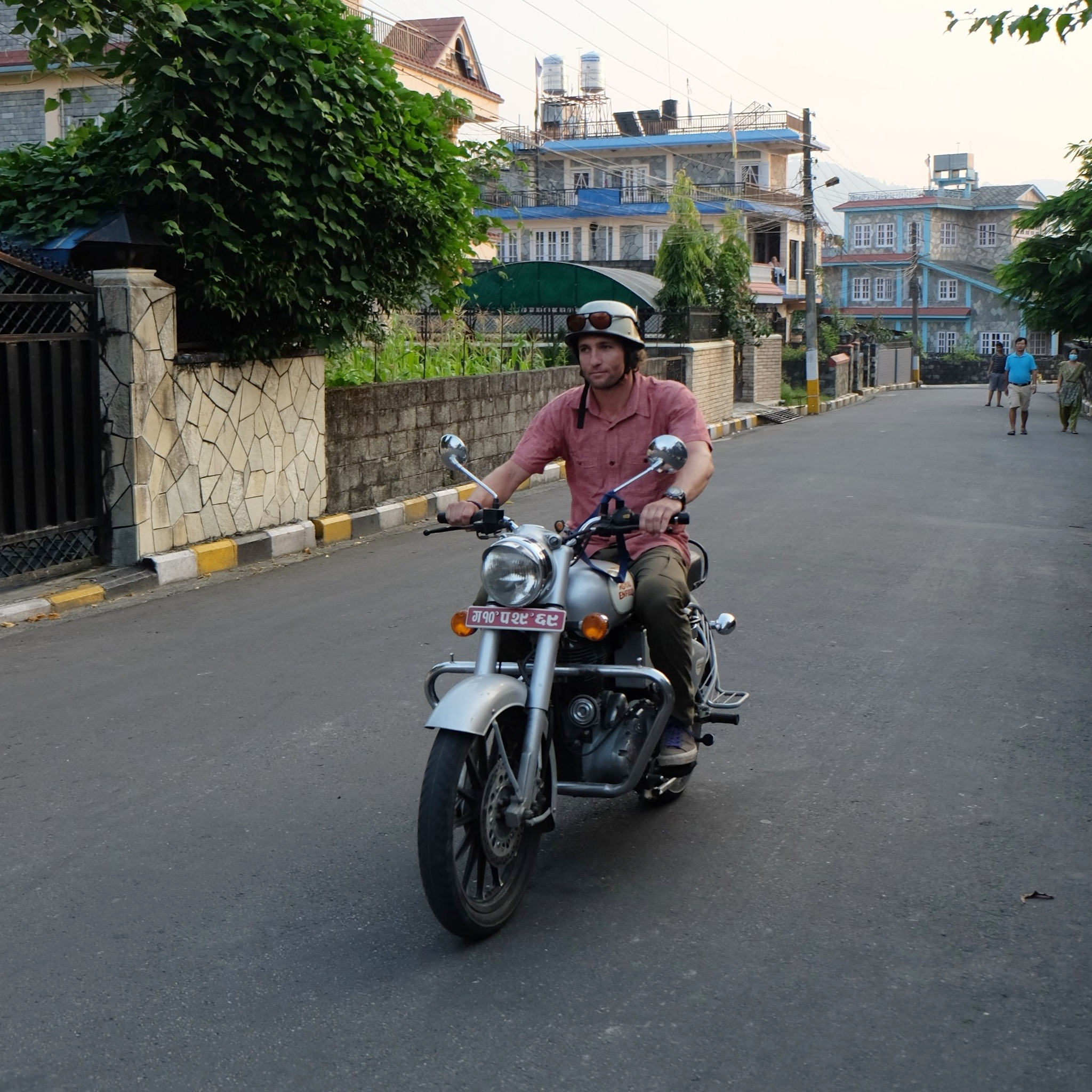 Kaspar and the Royal Enfield