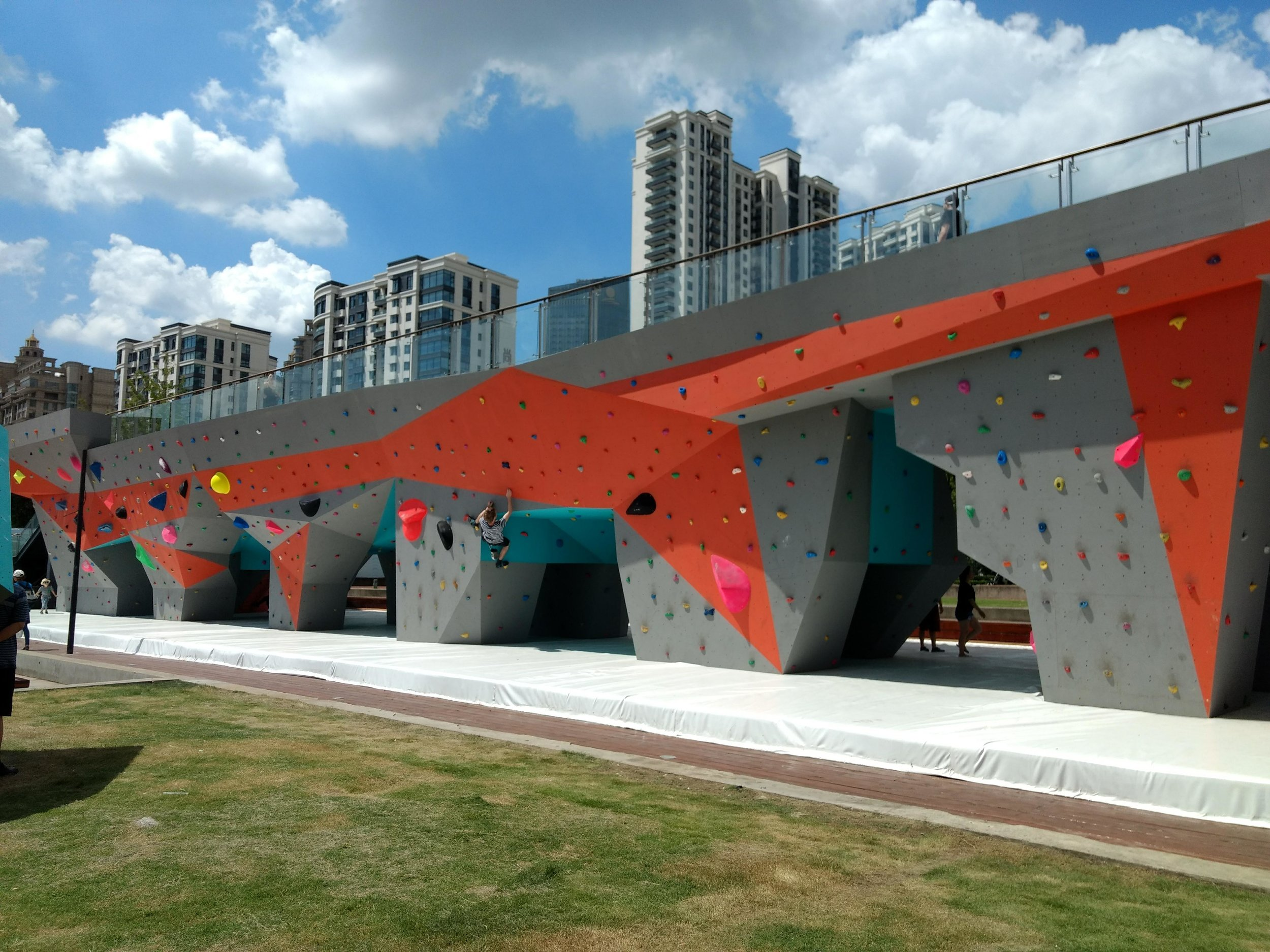 West bund climbing wall