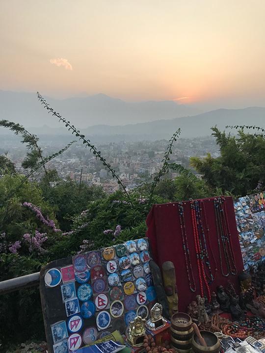 View over Kathmandu from the Kopan Monestary