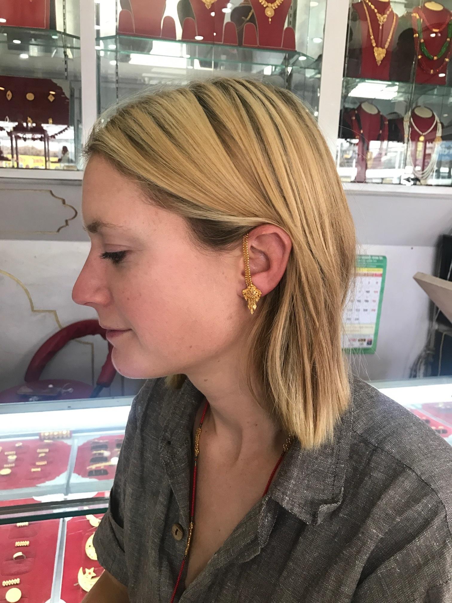 Ali's new earrings