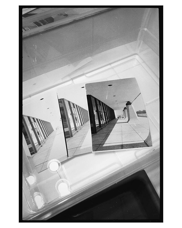 Made a print in the darkroom today. Never gets old seeing a photo suddenly appear on paper. I took this one back in 2017 in downtown Greenville. Photo was taken on Ilford HP5 and printed on Ilford Multigrade Pearl
