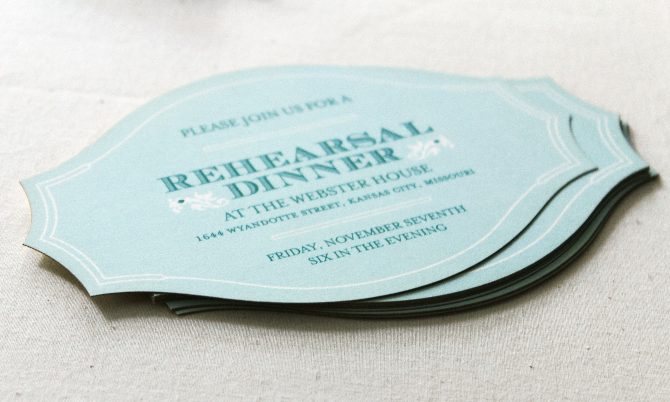 Of+Good+stock+die-cut+mint+wedding+invitation