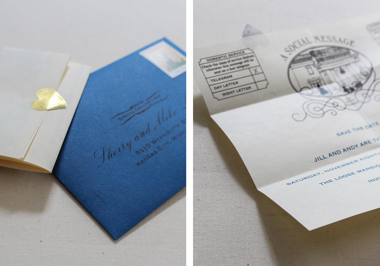 Of+Good+Stock+custom+telegram+save-the-date+loose+mansion
