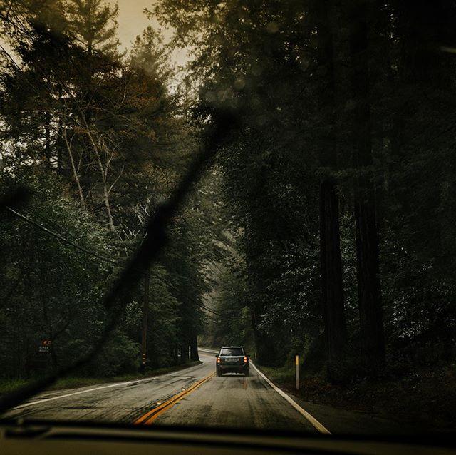 Cruisin the California coast on a rainy morning ✨💦