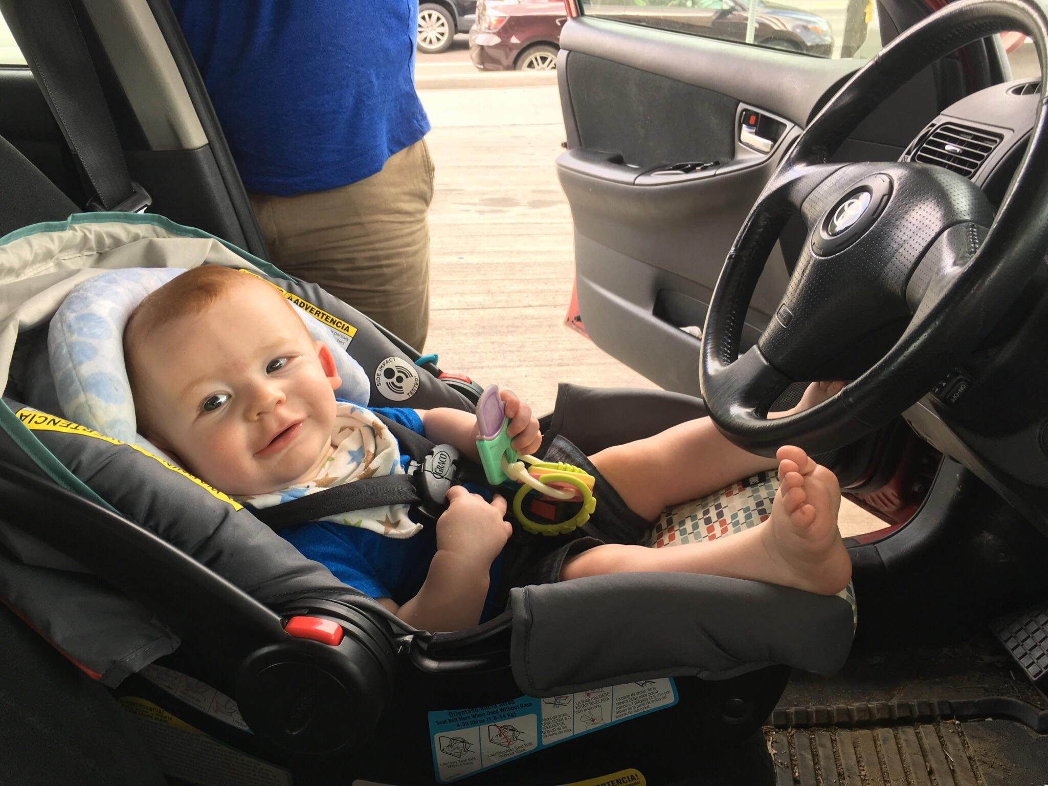 Joshua has keys and is ready to drive!