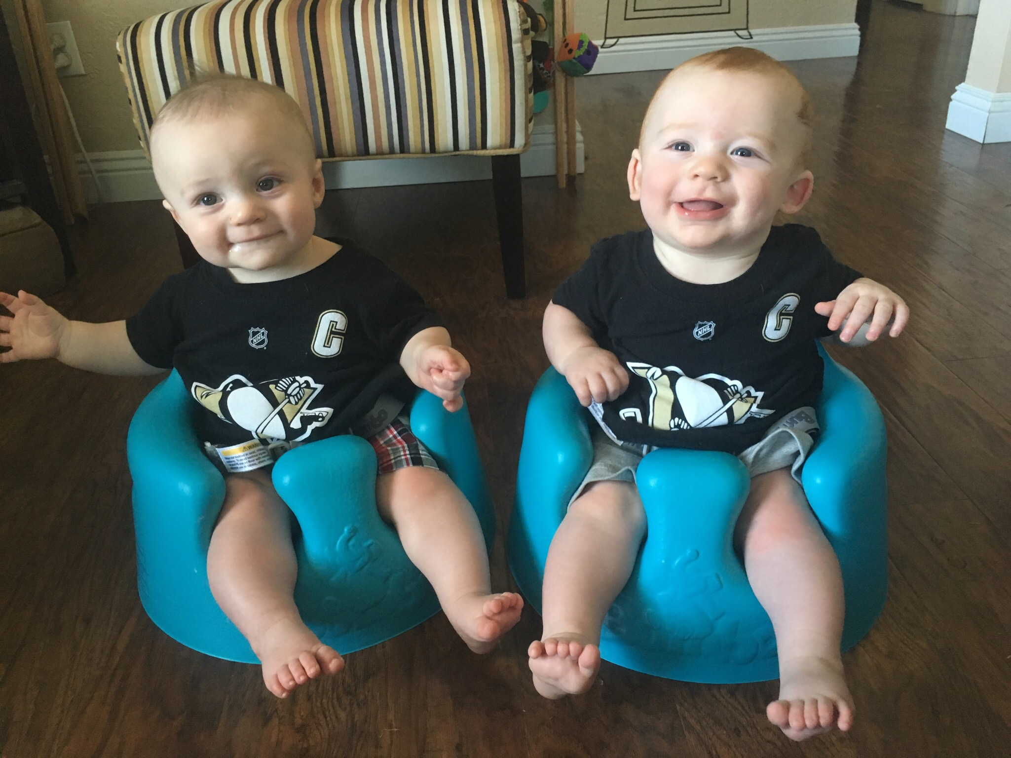 Julian and Joshua dressed for the Stanley Cup playoffs