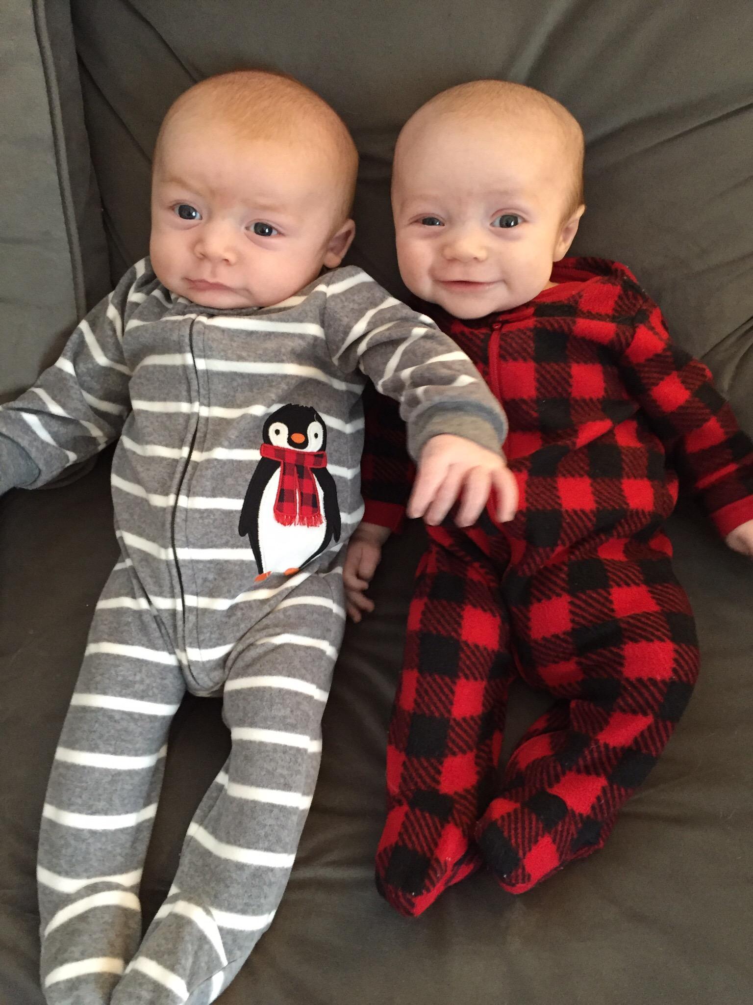 Joshua & Julian, 2 months old