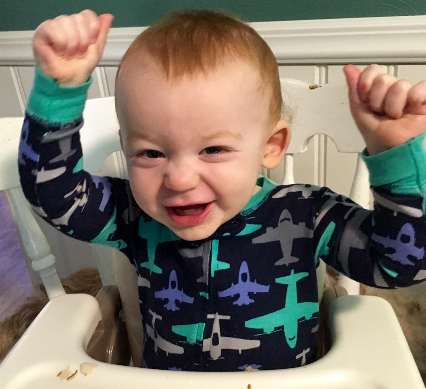 "Joshua dancing to ""Good Day"""