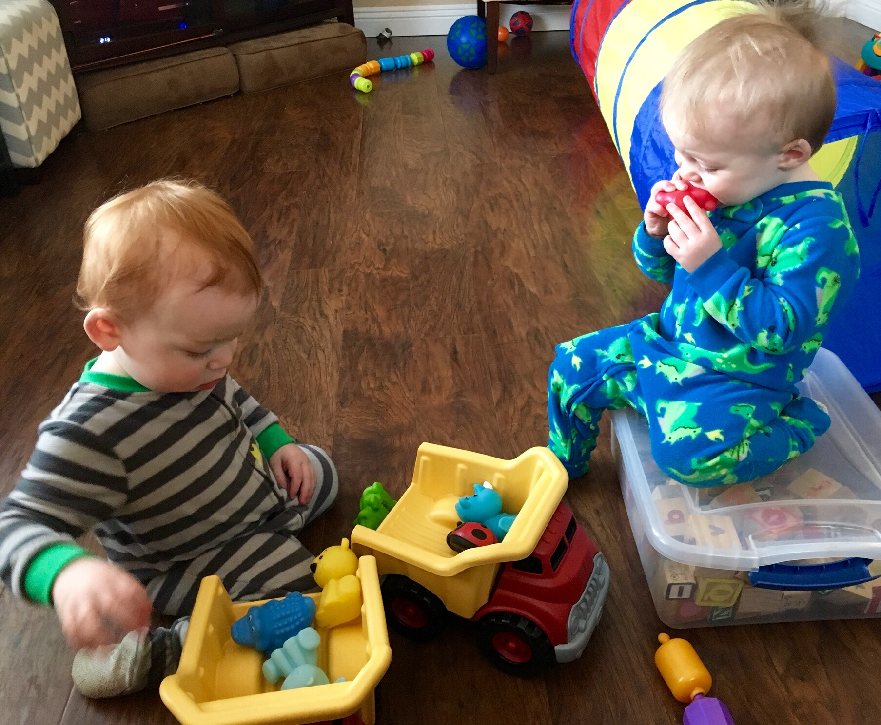 Joshua and Julian working on their own logistics.
