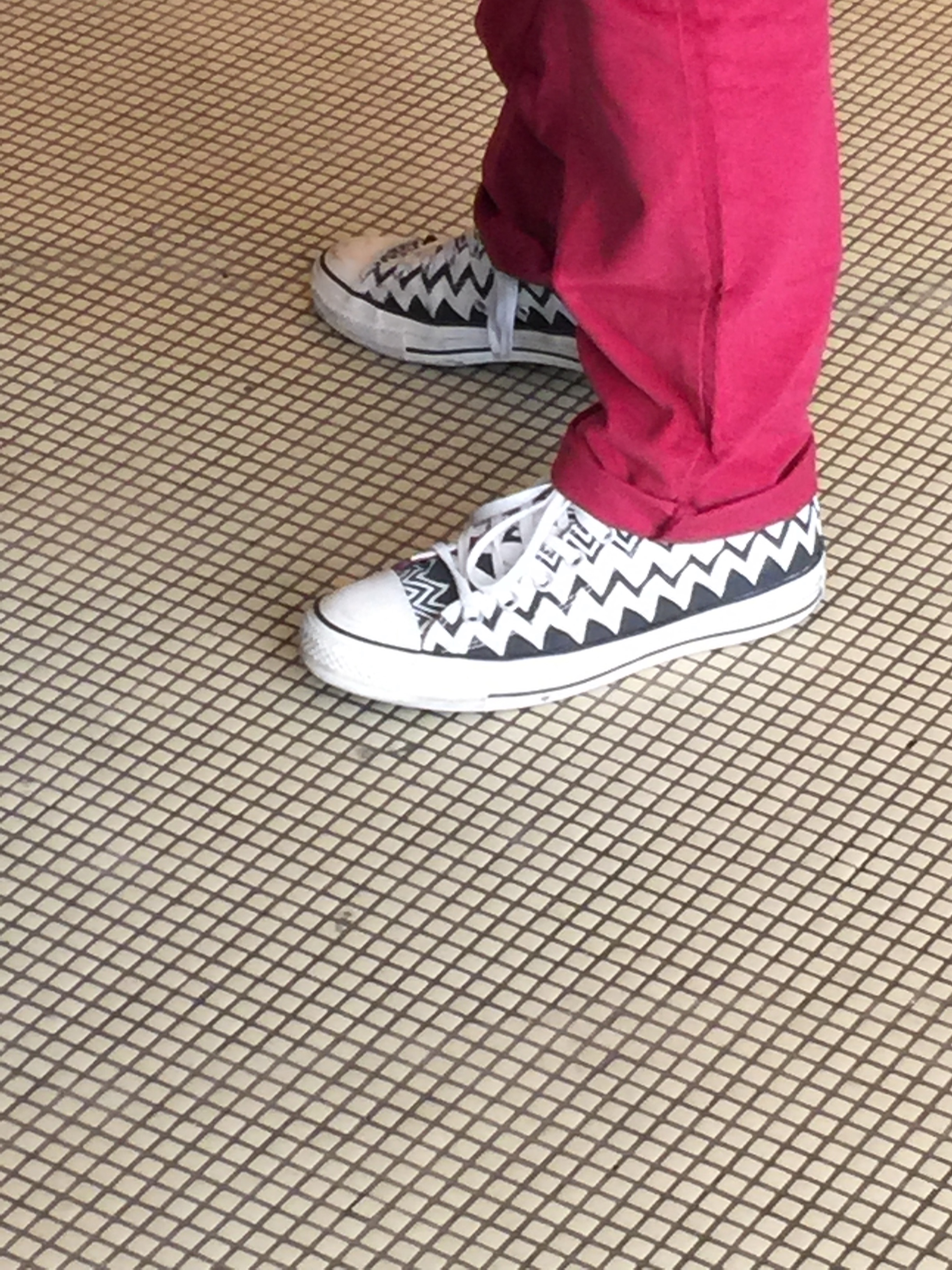 Even His Sneaks...